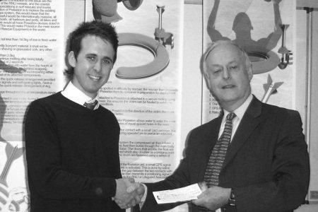 Hugh Conway congratulating Rhys Morgan