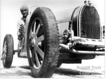 Louis Chiron in a Bugatti Type 51