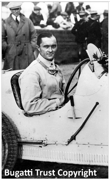 Louis Chiron at a race meeting in 1928.