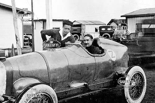 Count Zborowski in Indianapolis Bugatti